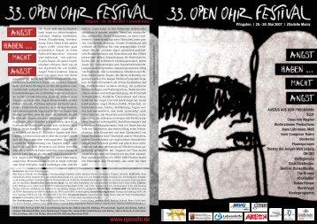 handzettel (Page 2 - 3) - Open Ohr Festival