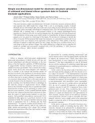 Simple one-dimensional model for electronic structure ... - Ief