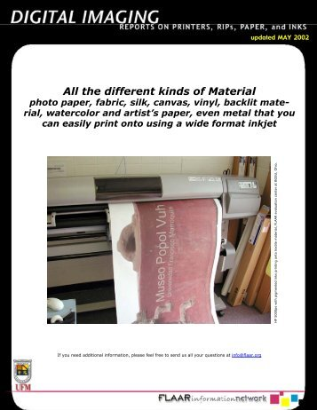 All the different kinds of Material - Digital Photography