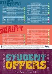 to download Revised Student Offers Leaflet 2012.pdf - Worcester
