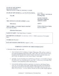 Attachment O – Verified Statement of Christopher Banet Page 1 of 7