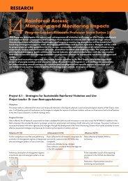 Program 4 - Rainforest Cooperative Research Centre