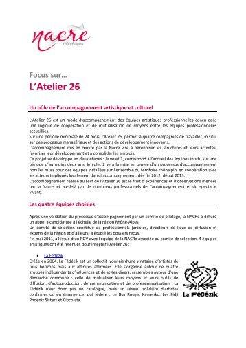 L'Atelier 26 - La NACRe