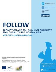 promotion and follow-up of graduate employability in european heis