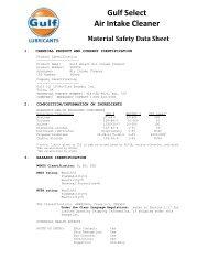 MSDS - Gulf Lubricants
