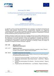 Programma seminario - Fondi Europei 2007-2013