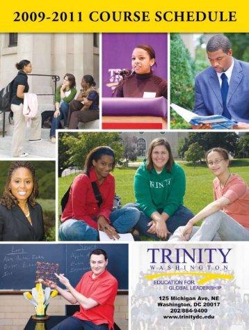 2009 Schedule - Trinity Washington University