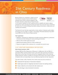 21st Century Readiness in Ohio - The Partnership for 21st Century ...