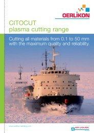 CITOCUT plasma cutting range - Oerlikon