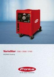 VarioStar 1500, 2500, 3100 - Fronius