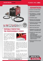 POWER MIG 180C Lincoln Electric Europe - TornboSvejs