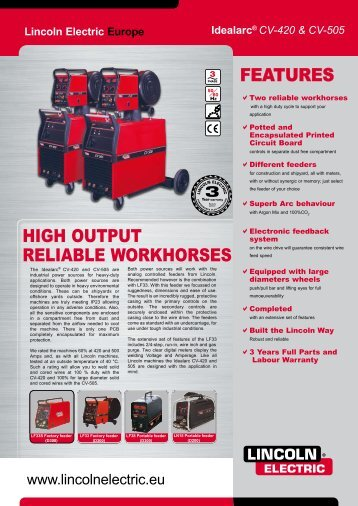 features high outPut reLiaBLe Workhorses - TornboSvejs