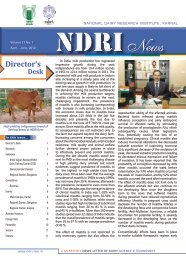 Director's - National Dairy Research Institute