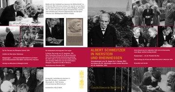 Albert Schweitzer in nierStein und rheinheSSen - Evangelische ...