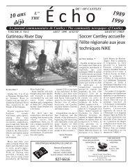 ECHOcantley.août 99 - Echo of Cantley / Écho de Cantley