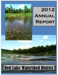 2012 Annual Report - Red Lake Watershed District