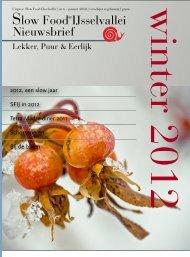 Nieuwsbrief januari 2012 - Slow Food Nederland