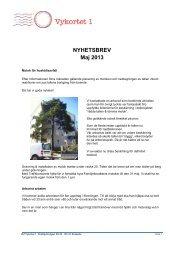 2013 05 Nyhetsbrev v 1.0.pdf - Brf Vykortet 1
