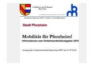 Informationen zum Verkehrsentwicklungsplan (VEP)