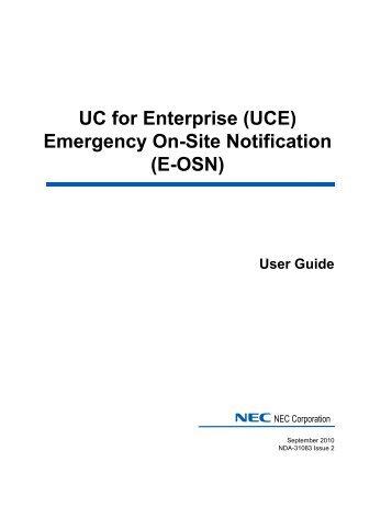 ii contents emerg nec dterm ip user guide nec dterm series e phone user guide