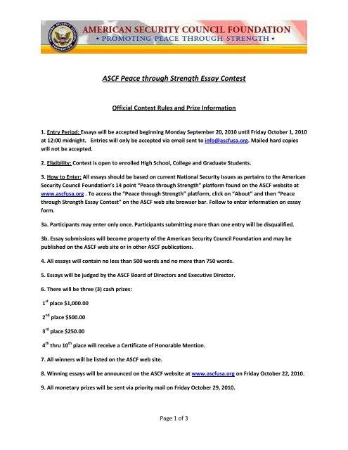 student essay contest 2018