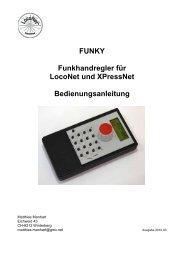 FUNKY Funkhandregler für LocoNet und ... - von Bea und This