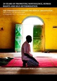 UNPO 20th Anniversary Commemorative Publication