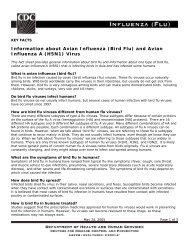 Information about Avian Influenza (Bird Flu)