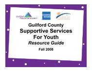 Suppoortive Services for Youth - Guilford Education Alliance