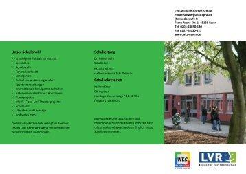 unserem Flyer - Wilhelm-Körber-Schule