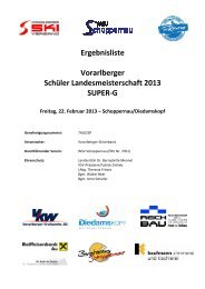 Ergebnisliste Vorarlberger Schüler Landesmeisterschaft 2013 ...