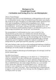 Høringssvar fra Grundtvigsk Forum i forbindelse med forslag til ny ...
