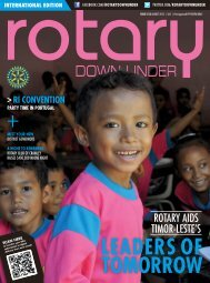 August 2013 Issue 553 - Rotary Down Under