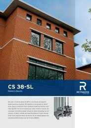 CS38 raam- en deursysteem - Boeters Alubo