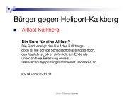 Bürger gegen Heliport-Kalkberg - Stadtteilzentrum Buchforst