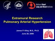 Extramural Research Pulmonary Arterial Hypertension - PHA Online ...