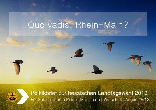 Quo vadis, Rhein-Main?