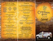 55002 Crackers Catering Menu.indd - Crackers & Co Cafe
