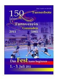 Turnerbote Extraausgabe zur 150 Jahr Feier - Turnverein Gmunden ...