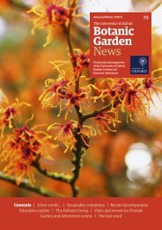 Autumn/Winter 2011/12 - Harcourt Arboretum - University of Oxford