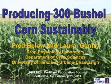 Fred Below and Laura Gentry - Fluid Fertilizer Foundation
