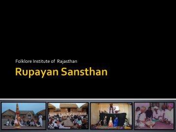 """Rupayan Sansthan"", Jodhpur - National Museum of Natural History"