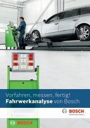 Vorfahren, messen, fertig! Fahrwerkanalyse von Bosch