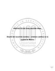 PROYECTO DE EVALUACIÓN FINAL Diseño del recorrido turístico ...