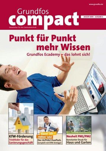 """Ab Herbst gibt's die """"Doppel-Kampagne"""" - Grundfos"""