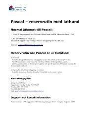 Pascal – reservrutin med lathund - jll.se