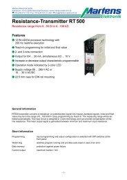 Resistance-Transmitter RT500 - Martens Elektronik GmbH