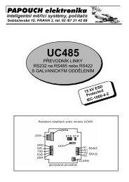 UC485 PŘEVODNÍK LINKY RS232 na RS485 nebo RS422 ... - HW.cz