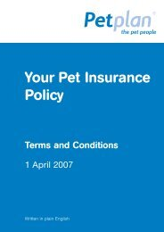 Claim Form for Veterinary Fees - Petplan