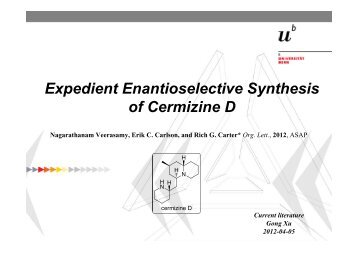 Expedient Enantioselective Synthesis of Cermizine D